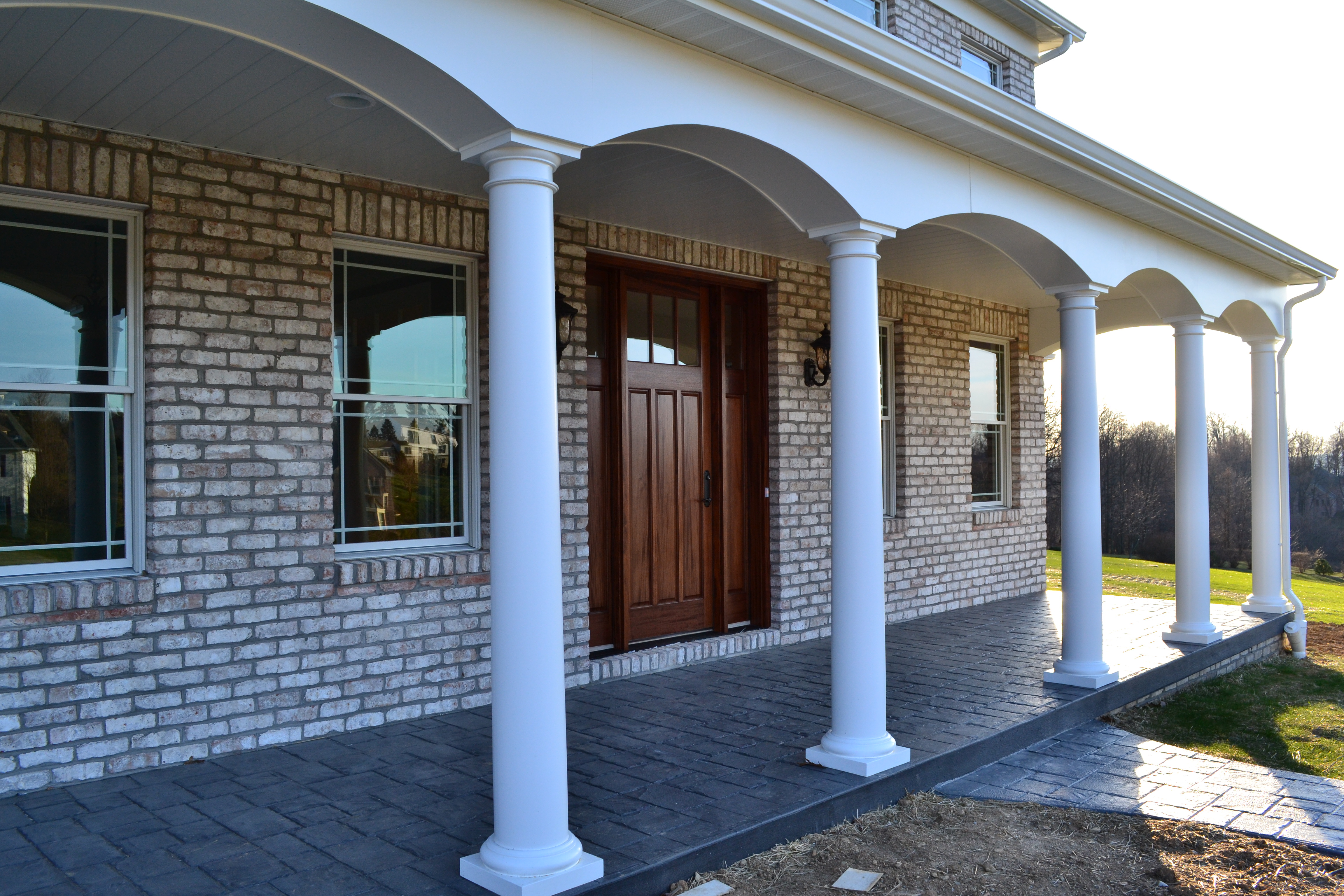 Jlh inc custom home jeffrey l henry inc custom homes for Covered front porch