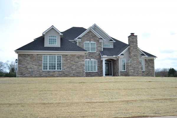 Front Elevation - Custom Home built by Jeffrey L. Henry, Inc. - 2014