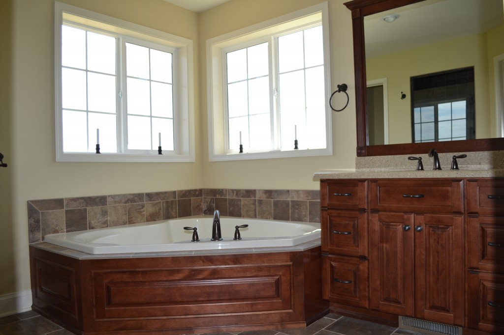 Master bathroom in custom home built by Jeffrey L. Henry, Inc. of York, PA. Finished in 2014