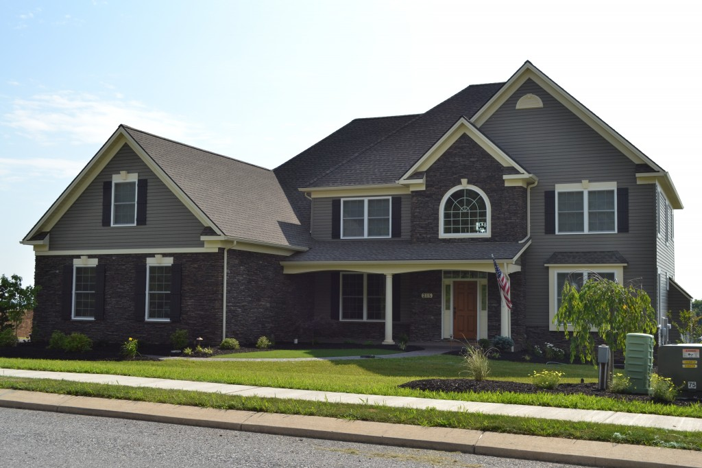 Front Elev. of custom home built by Jeffrey L. Henry, Inc. in 2014