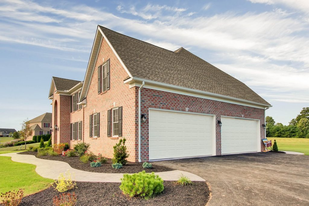 JLH CUSTOM HOME - Right Elevation with all brick exterior